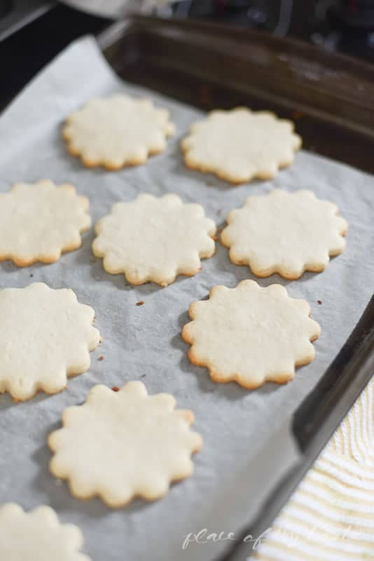 Springy Lemon Sugar Cookies -- Place Of My Taste