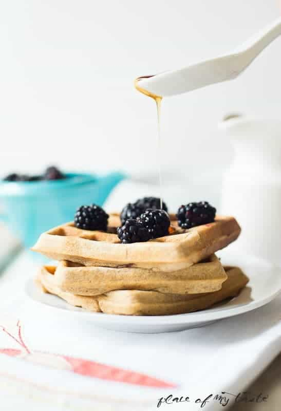 Whole Wheat Blackberry waffles .- Place Of My Taste (1 of 1)