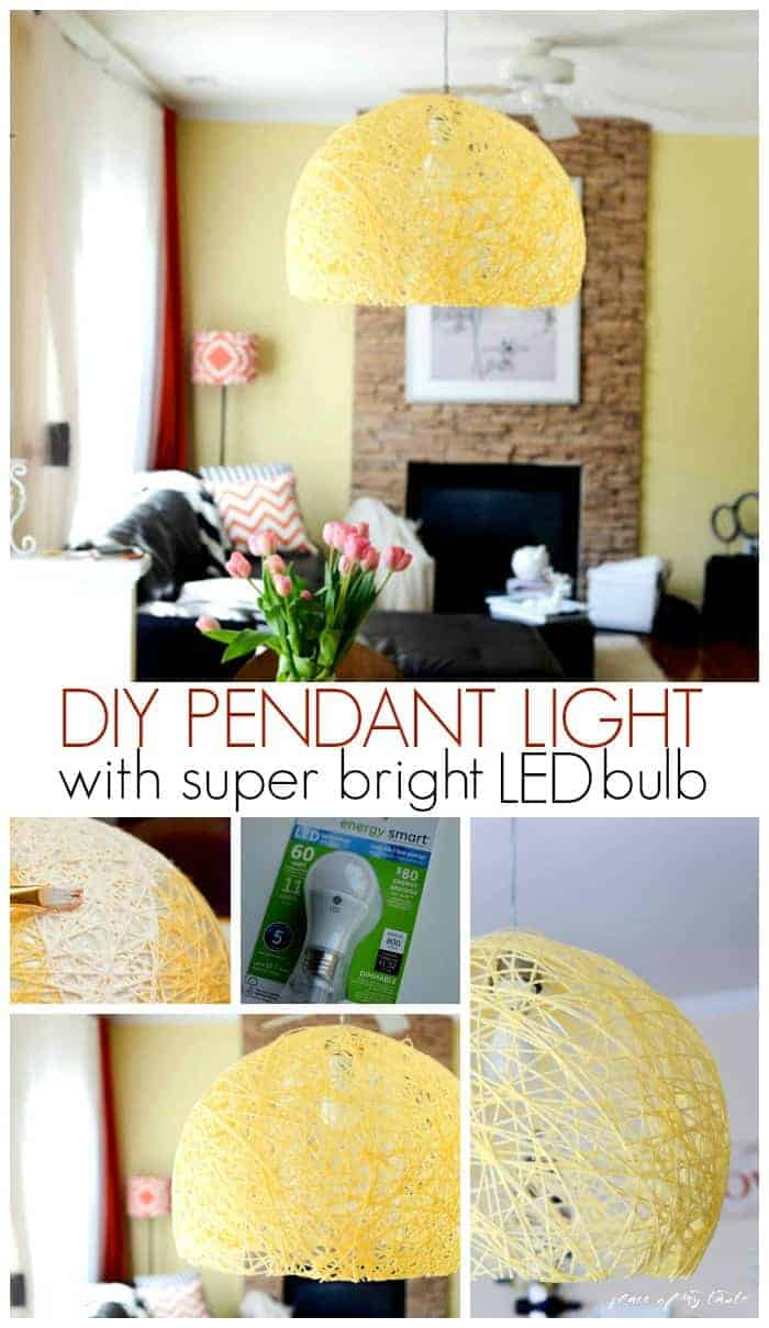 Diy Pendant Light Diy Pendant Light With Super Bright Led Bulb Place Of My Taste