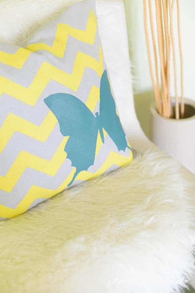 Decorative Stenciled Pillowcase by Place Of My Taste  (1 of 1)