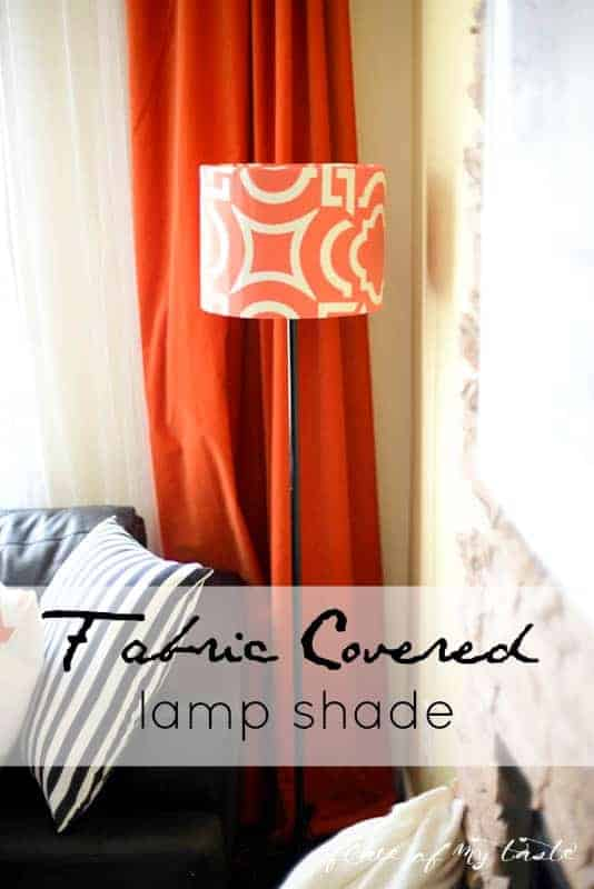 Fabric covered lamp shade by Place Of My Taste