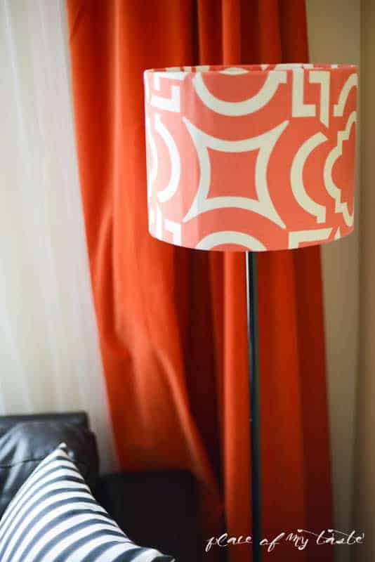 Fabric covered lamp shade by Place Of My Taste  (7 of 8)