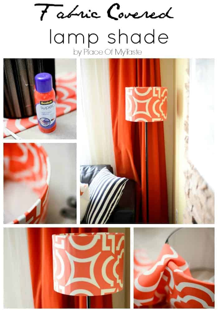 Fabric covered lamp shade by Place of My Taste 1