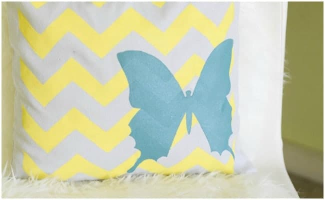 STENCILED DECORATIVE PILLOWCASE