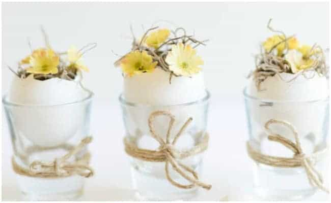 DIY Easter Eggshell Table Decoration