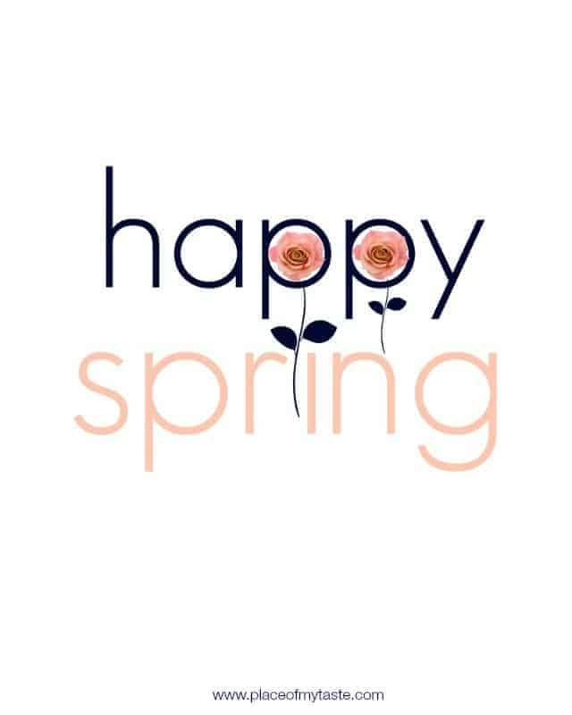 Happy Spring Printable