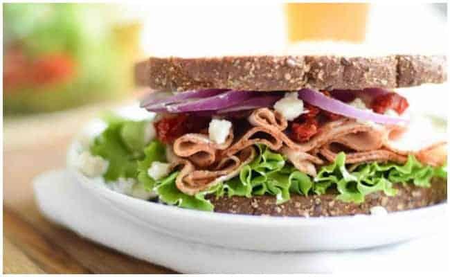 Turkey Sandwich with Goat Cheese