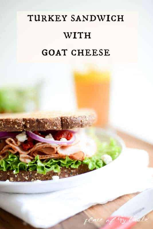 Turkey Sandwich with Goat - Cheese