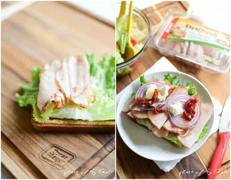Turkey sandwich with goat cheese