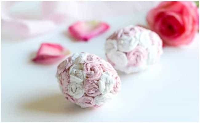 CREPE PAPER ROSE EGGS {TUTORIAL}