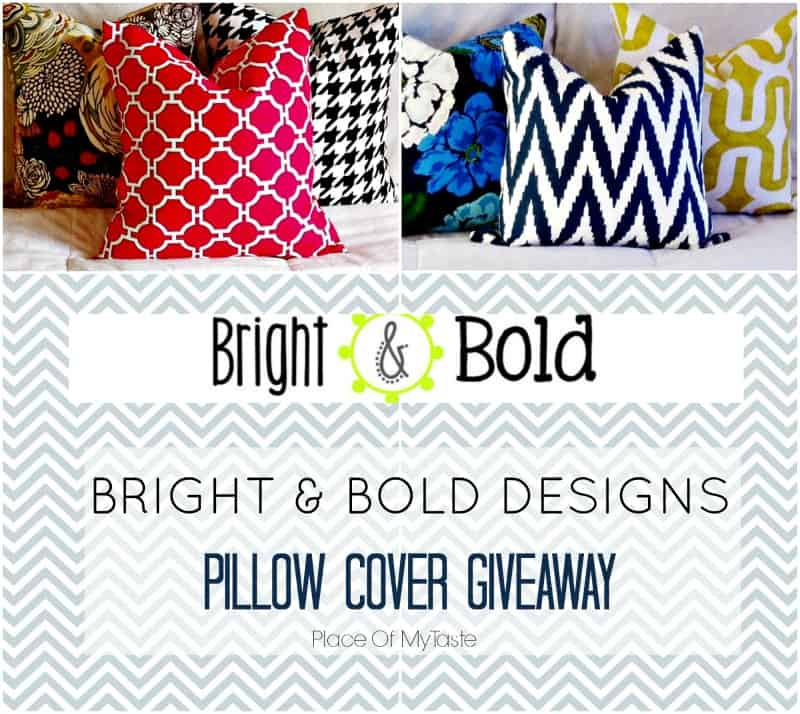 Bright and Bold Designs pillow cover giveaway