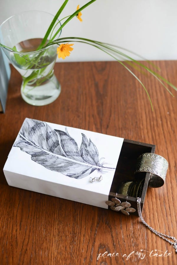 Jewelry Slide box (West Elm Knock Off) by Place Of My Taste