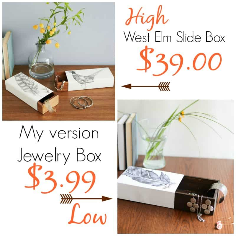 Jewelry Slide Box ( West Elm Knock Off) by Place Of My Taste