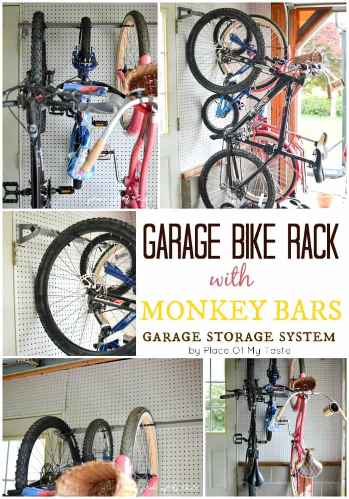GARAGE BIKE RACK BY MONKEY BARS