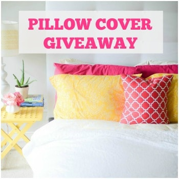 Pillow Cover Giveaway