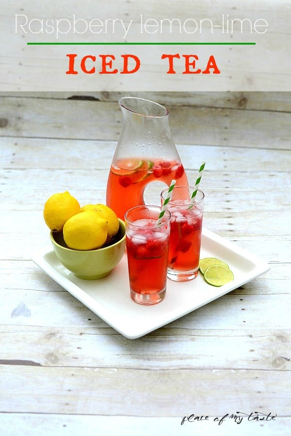 Raspberry Lemon Lime Iced Tea