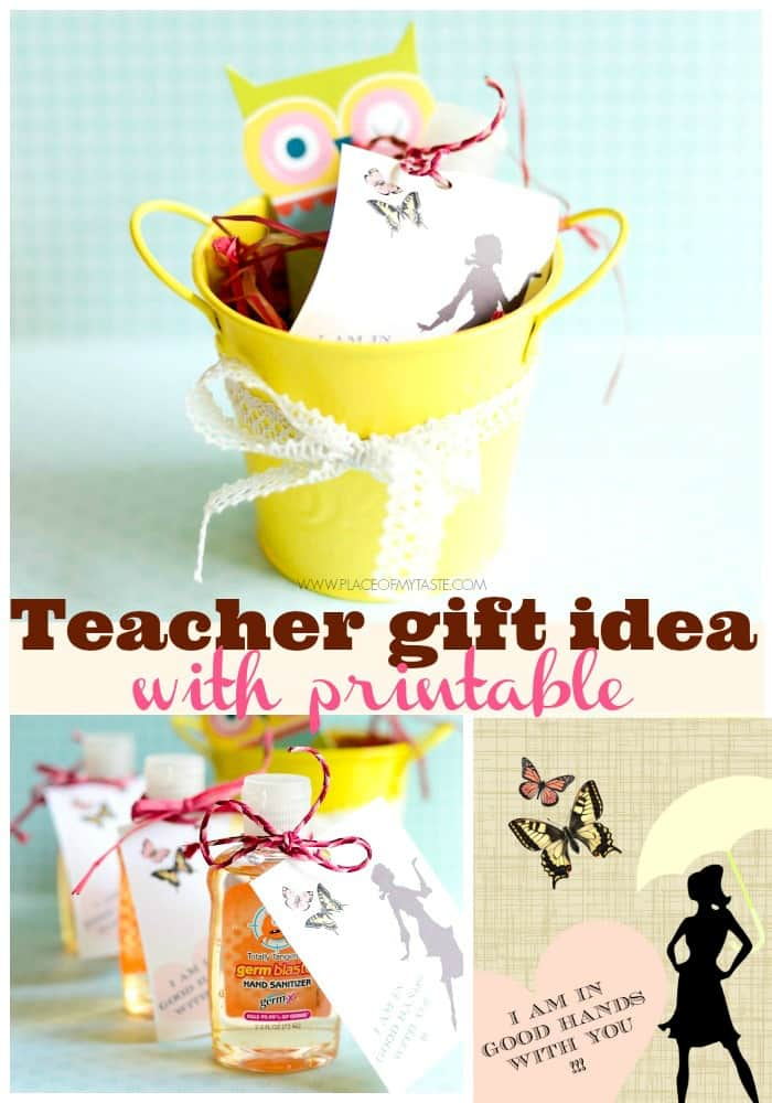 Teacher gift idea with printable by Place Of My Taste