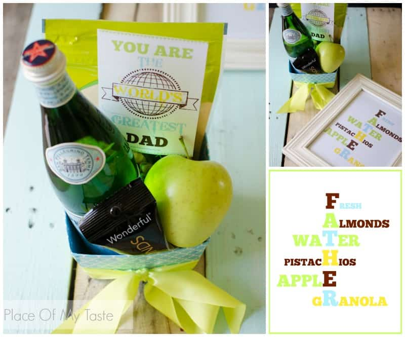 Healthy Father's Day gift with printables  www.placeofmytaste.com