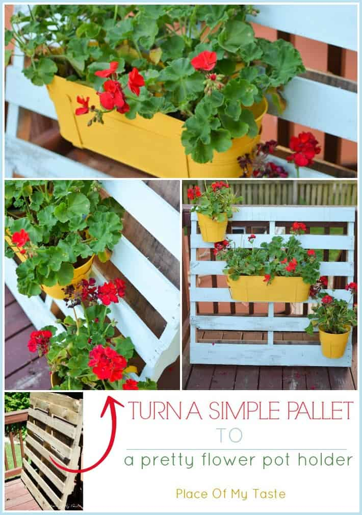 Pallet flower pot holder by Place Of My Taste