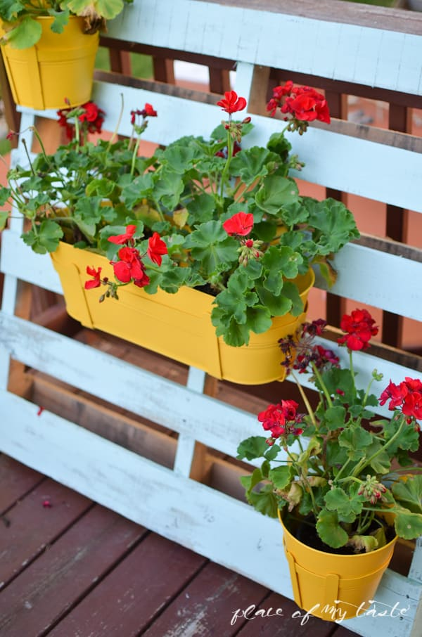 Pallet Flower Pot Hanger Place Of My Taste
