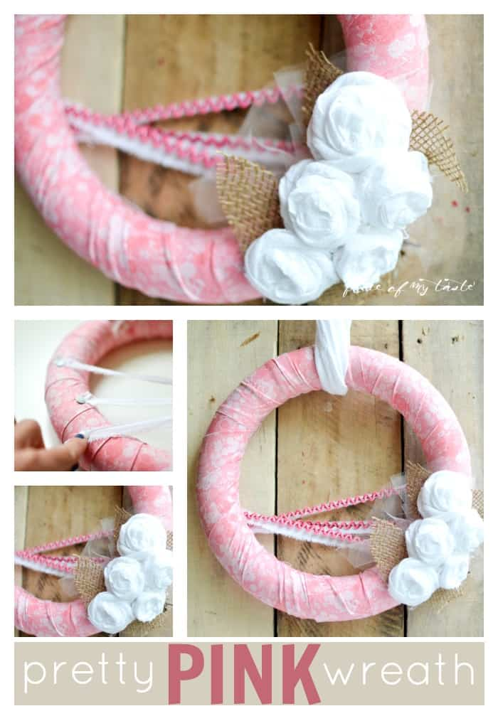 Pretty Pink wreath by Place Of My Taste