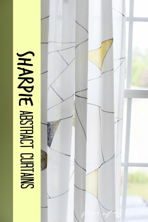 Sharpie Abstract Curtain- www.placeofmytaste.com-#PaintYourWay #pmedia #ad