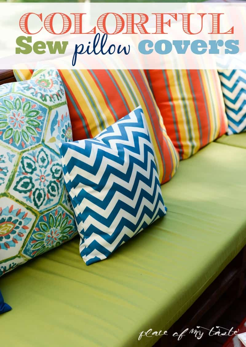 Colorful SEW pillow COVERS- www.placeofmytaste.com-