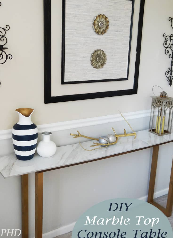 DIY-Marble-Top-Console-Table