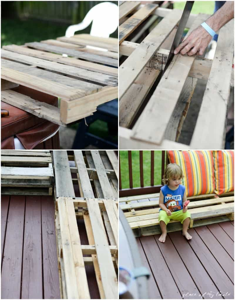 Diy Pallet Furniture Patio Makeover Www Placeofmytaste Com