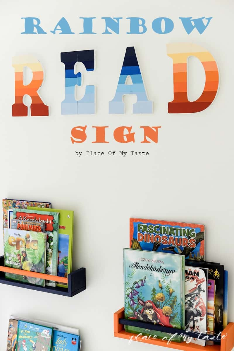 RAINBOW 'READ' SIGN FOR READING CORNER
