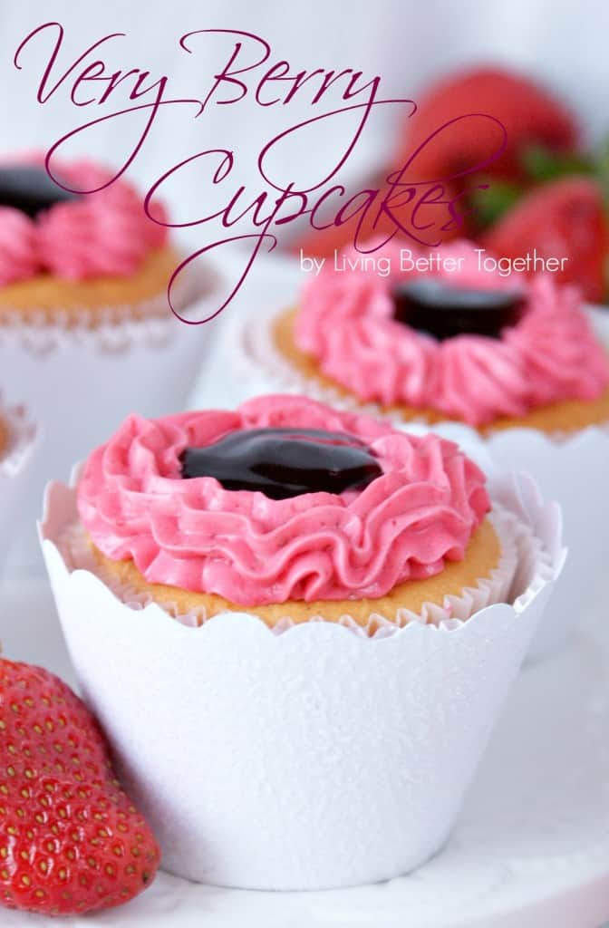 VERY BERRY CUPCAKES