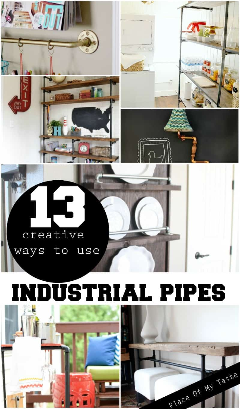 13 creative ways to use INDUSTRIAL PIPES