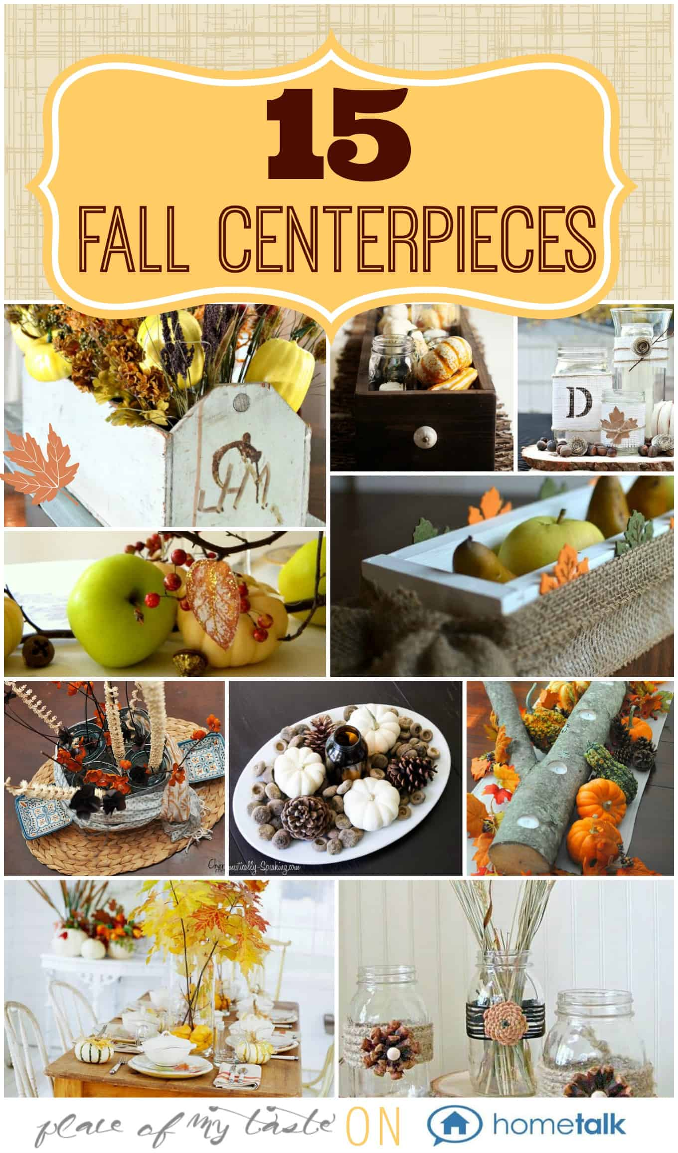 15 FALL CENTERPIECES  Place Of My Taste for Hometalk