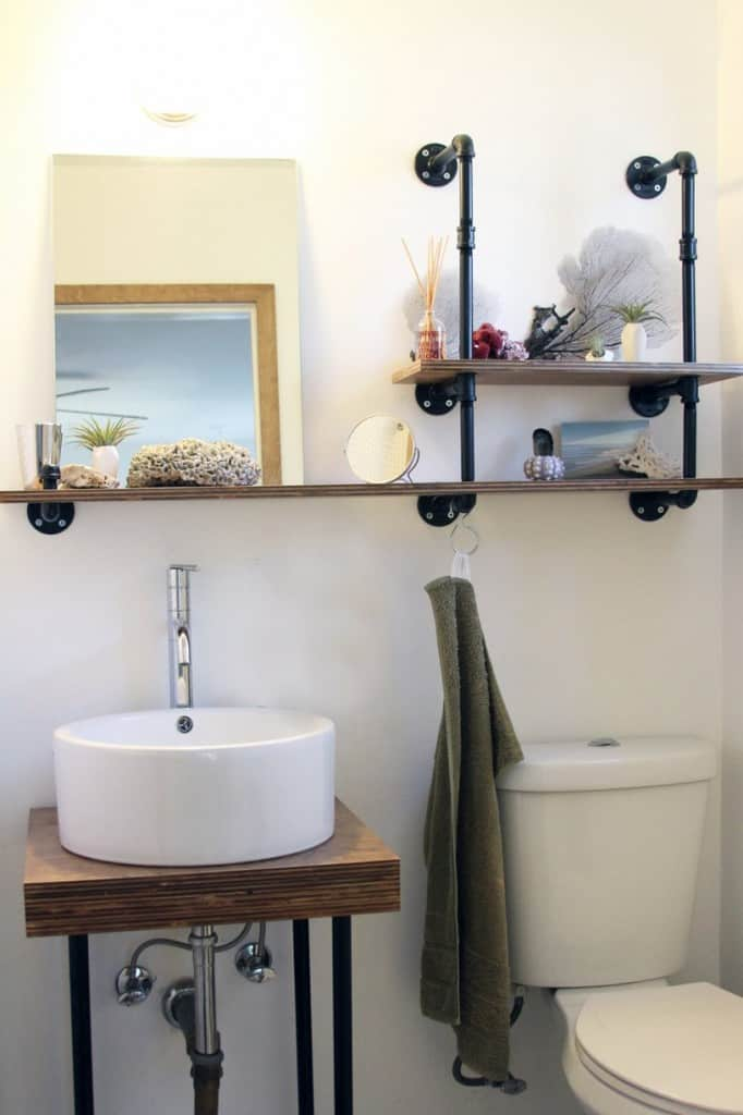 13 creative ways to use industrial pipes place of my taste - Ways to decorate bathroom ...