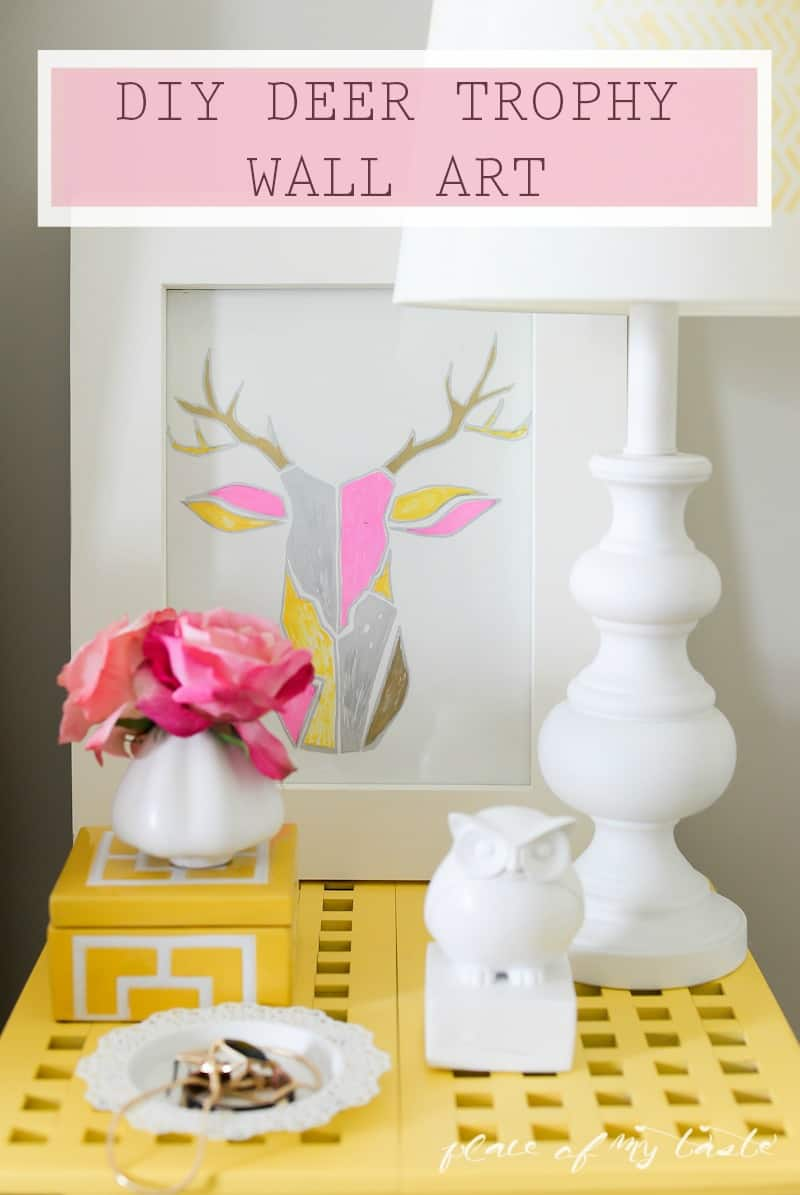 DIY DEER TROPHY WALL ART (WEST ELM INSPIRED)