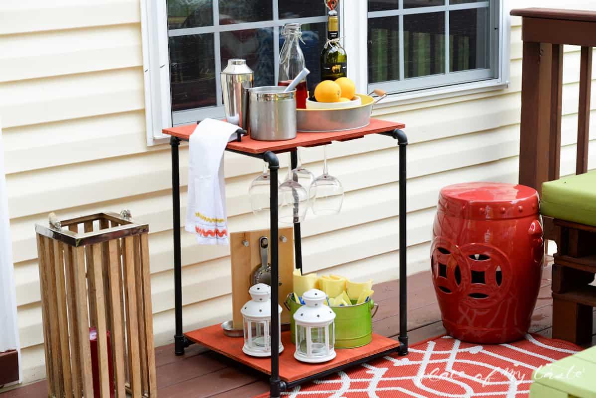 DIY Industrial pipe bar station - Place Of My Taste -3515