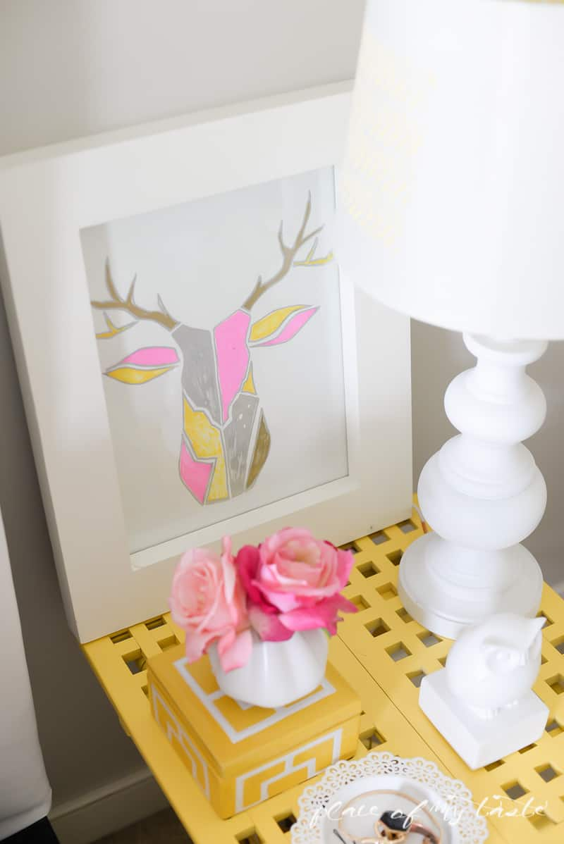 Deer Throphy Wall art ( West Elm Inspired)- Place Of My Taste -3422