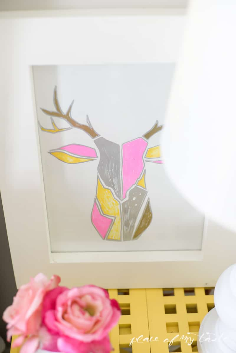 DIY Deer Trophy Wall Art (West Elm Inspired ) |www.placeofmytaste.com