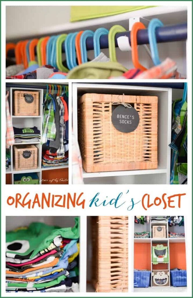 Organizing kids closet