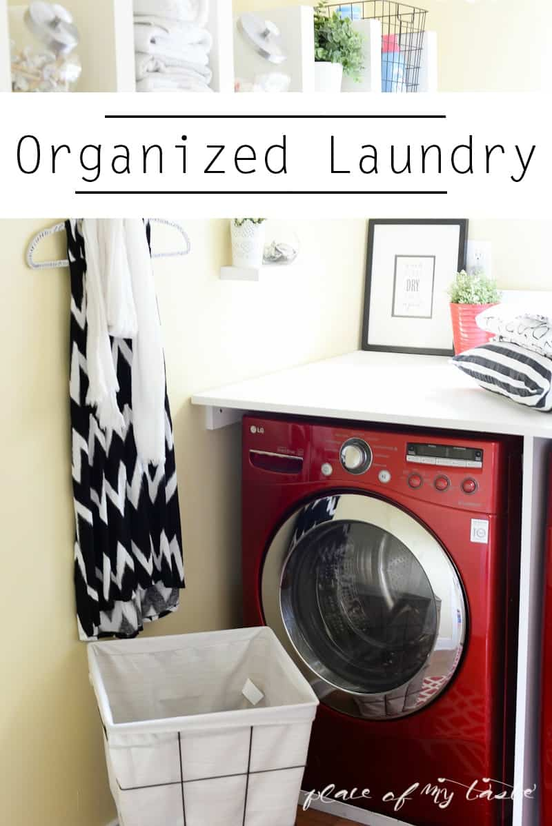 Organzied Laundry space - www.placefomytaste.com-