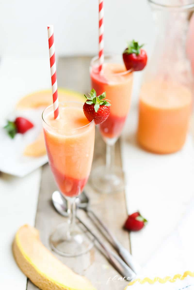 STRAWBERRY-CANTALOUPE SLUSHIES