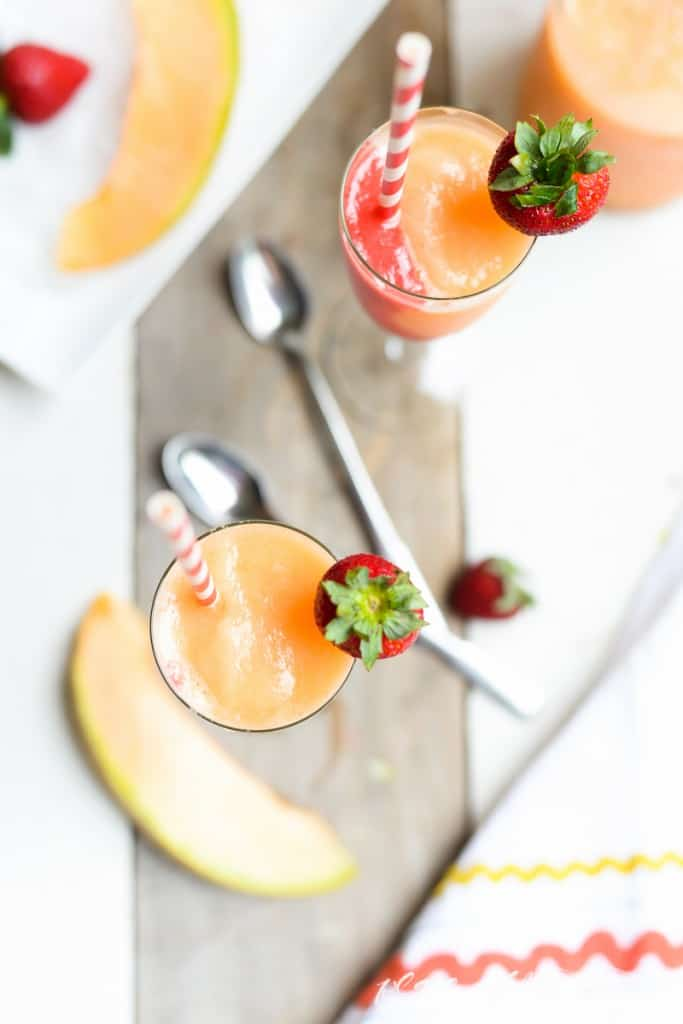 Strawberry-Cantaloupe Slushie- Place Of My Taste -4022