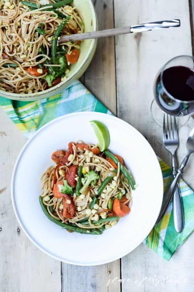 Summer veggie spaghetti  - www.placefomytaste.com-3923