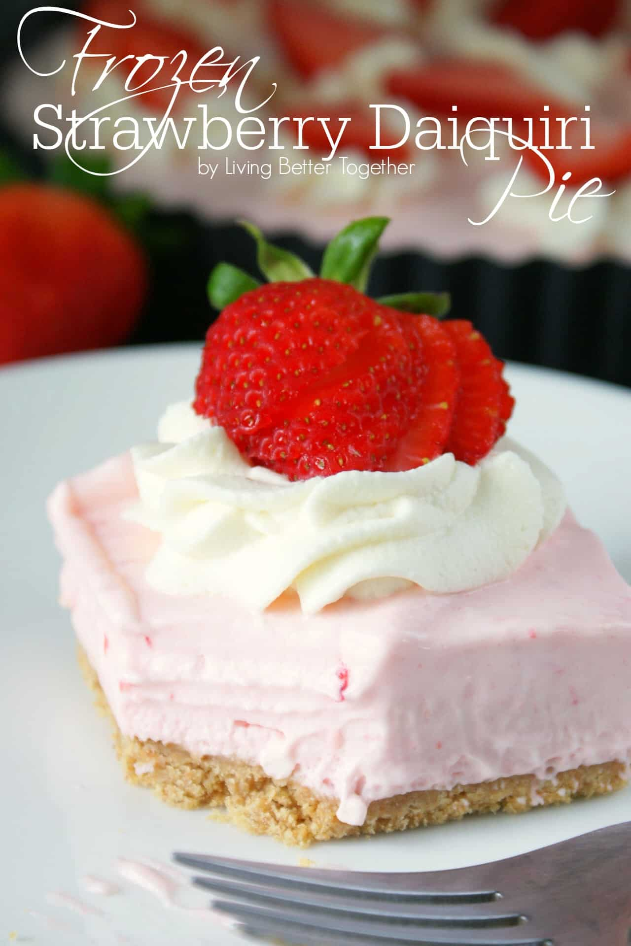 Frozen Strawberry Daiquiri Pie