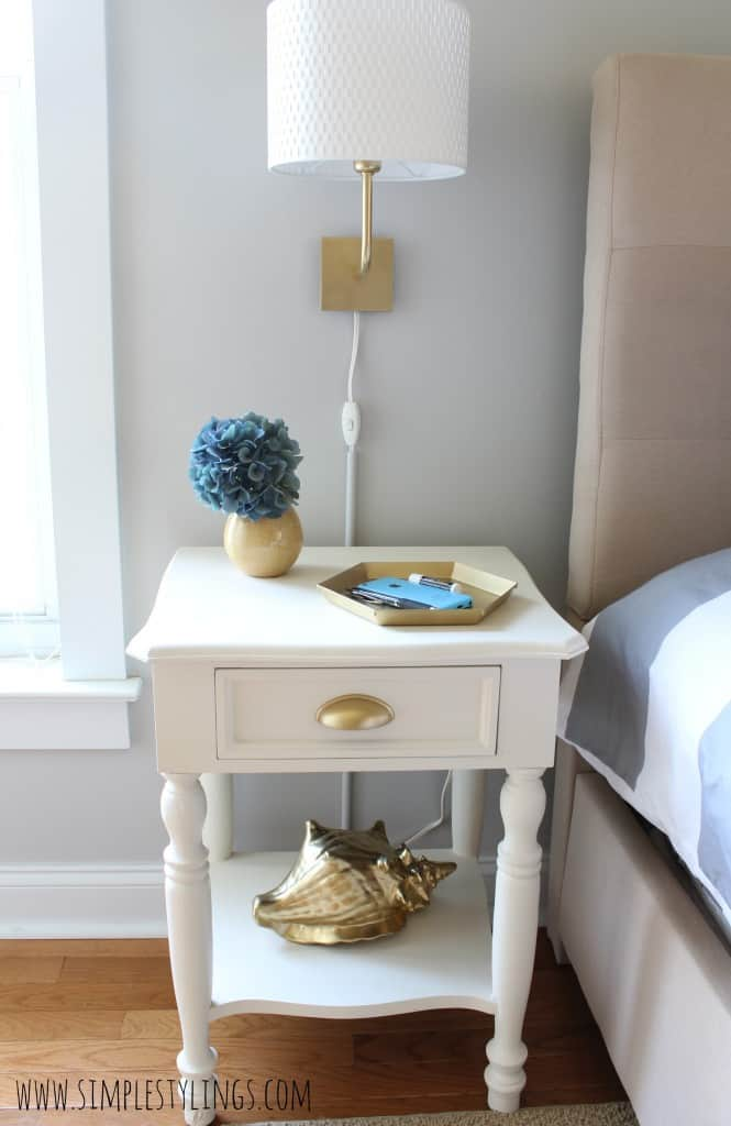Spray Painted Nightstand Refresh