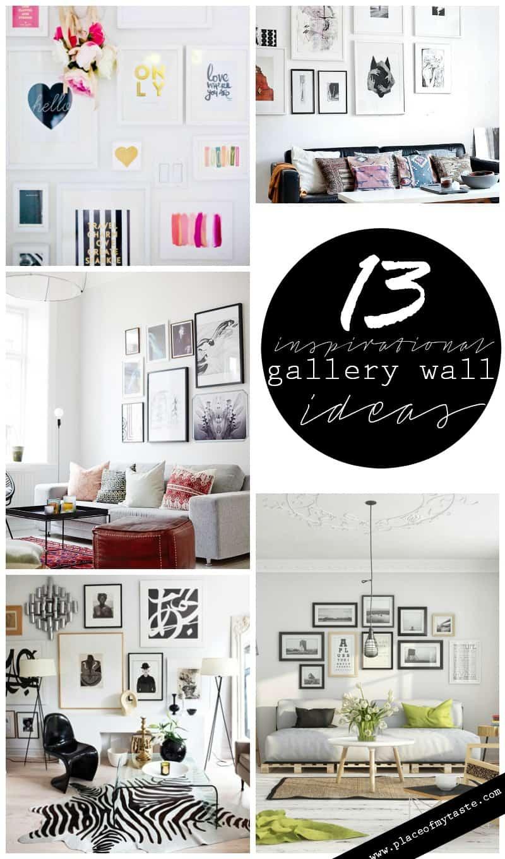 13 inspirational gallery wall idas  Placeofmytaste.com