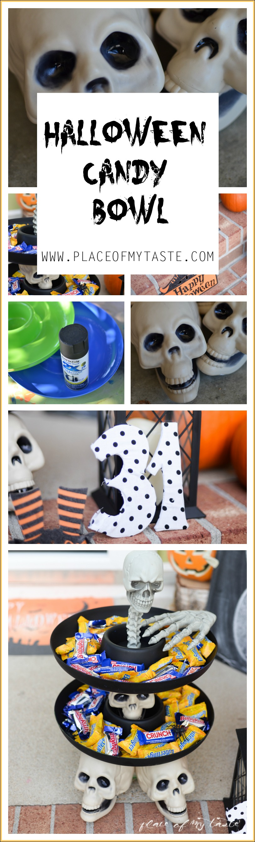 HALLOWEEN CANDY BOWL - Placeofmytaste.com #treats4all #shop
