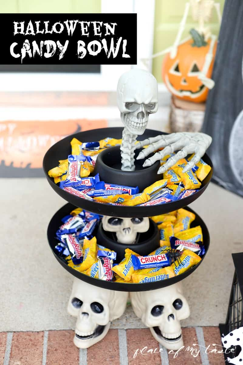 HALLOWEEN CANDY BOWL and DECORATIONS