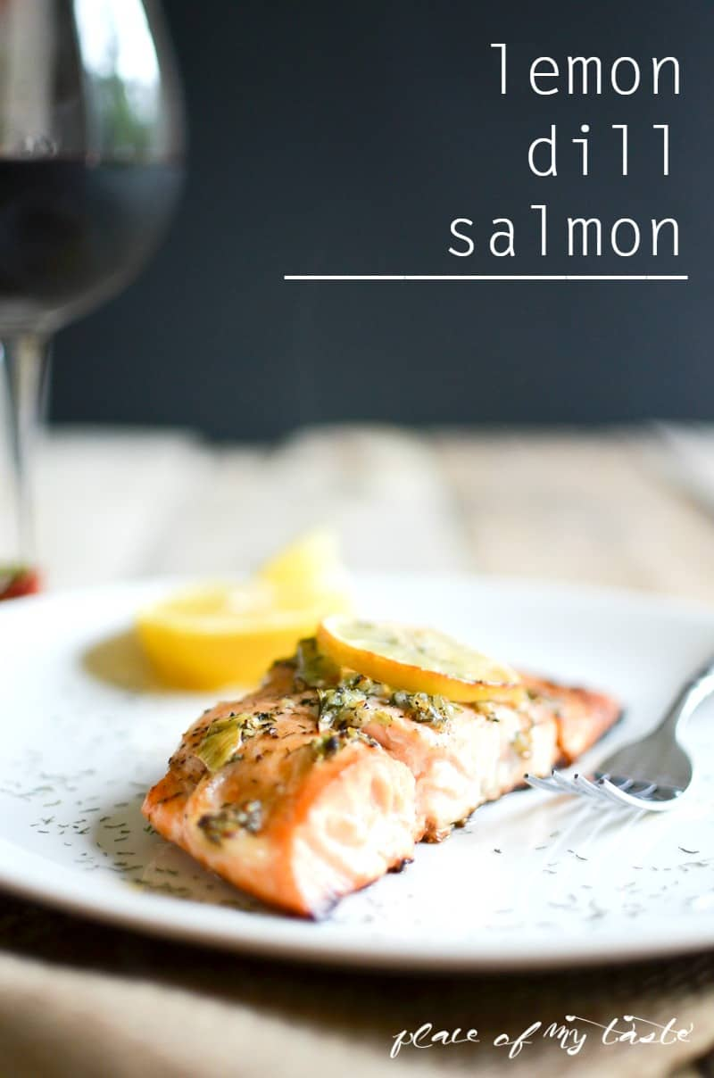 Lemon Dill Salmon-Place Of My Taste