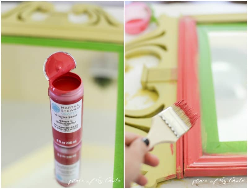 Mirror Makeover with Vintage Decor Paint  Place Of My TAste..